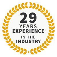 29 Years Experience in the Industry